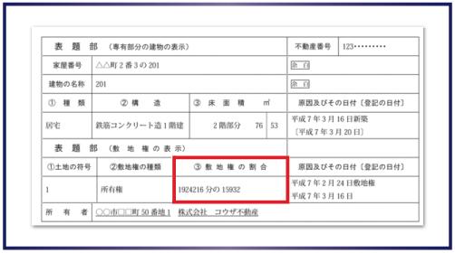 登記簿(登記事項証明書)の記載例