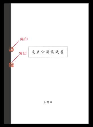 遺産分割協議書の製本・割り印
